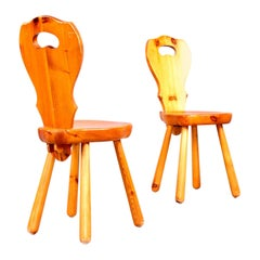 Set of 18 Pine Chairs