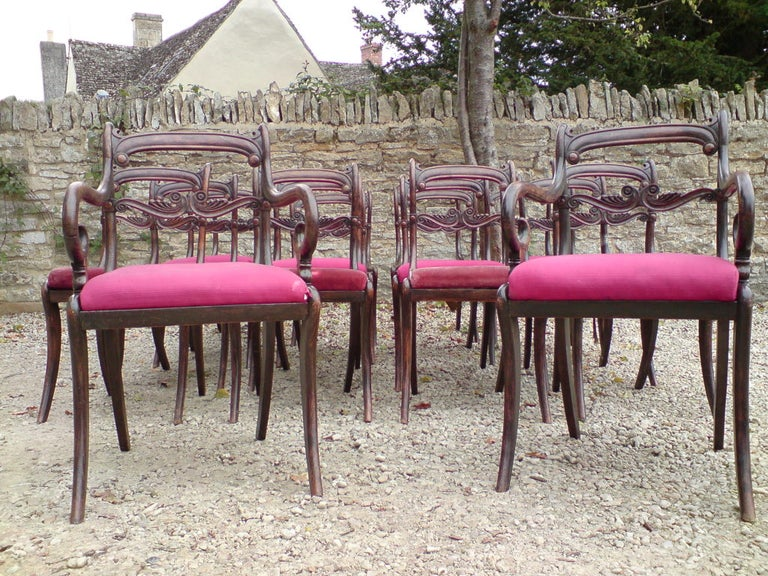 Set of 18 Regency Dining Chairs In Good Condition For Sale In Gloucestershire, GB