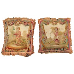 Set of 18th Century Aubusson Tapestry Pillows