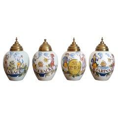 Set of 18th Century Dutch Ceramic Tobacco Jars