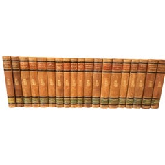 Set of 19 Swedish Literature Leather-Bound Books, 1946