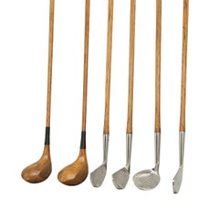 Set of 1920s Hickory Shafted Golf Clubs