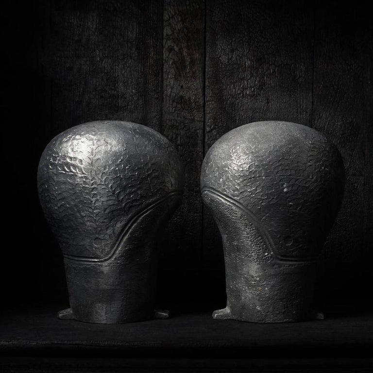 Set of 1940s French Industrial Aluminium Moulds for Rubber Ladies Swimming Caps In Good Condition For Sale In Haarlem, NL