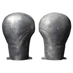 Set of 1940s French Industrial Aluminium Moulds for Rubber Ladies Swimming Caps