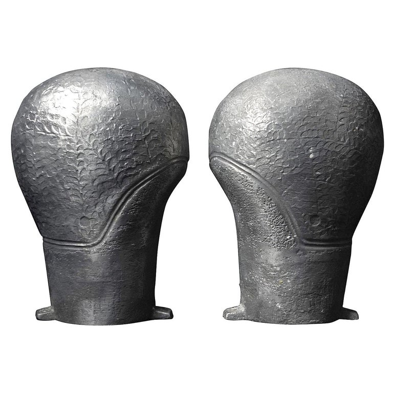 Set of 1940s French Industrial Aluminium Moulds for Rubber Ladies Swimming Caps For Sale