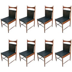 Set of 1960s Brazilian Jacaranda Cantu Dining Chairs by Sergio Rodrigues
