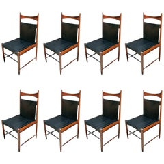 Set of 1960s Brazilian Jacaranda Wood Cantu Dining Chairs by Sergio Rodrigues