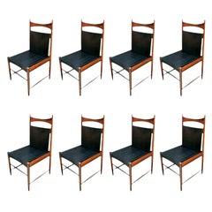 Set of 1960s Brazilian Jacaranda Wood Cantu Dining Chairs by Sergio Rodrigues