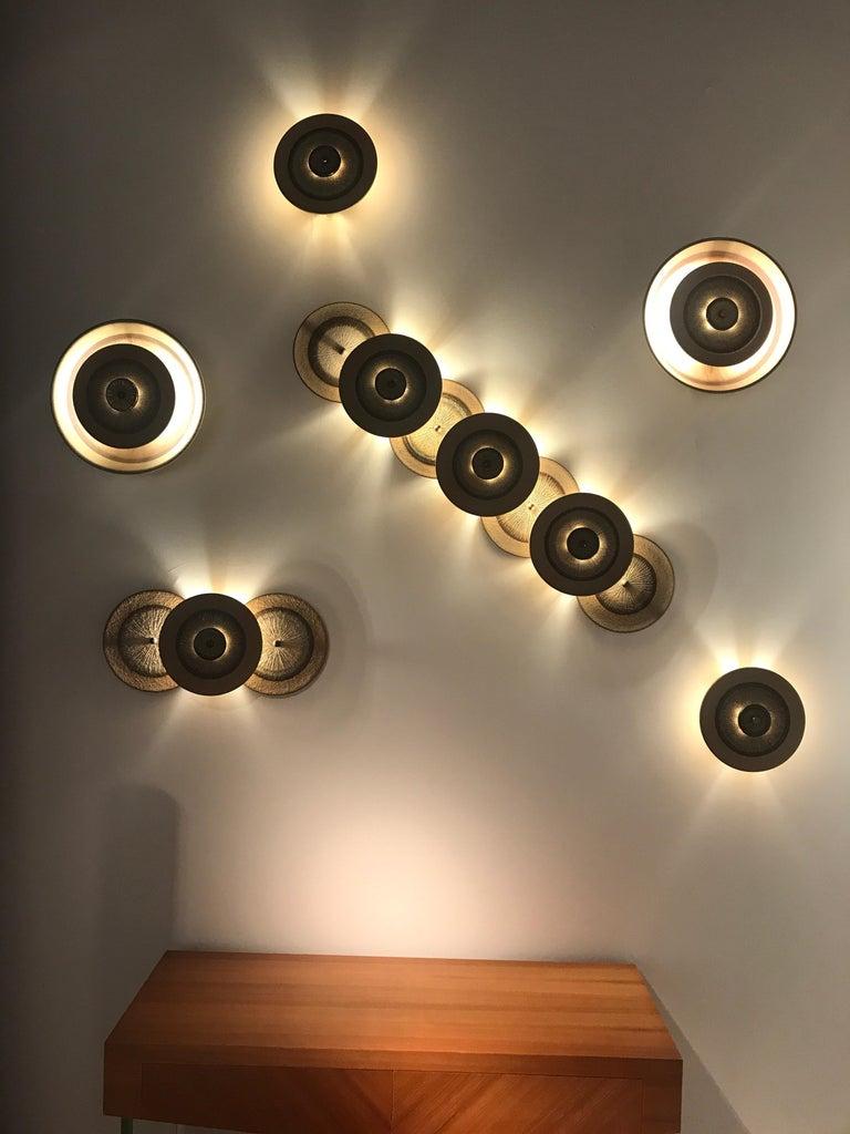 Set of 1970s Ceramic Soholm Wall Lights For Sale 4