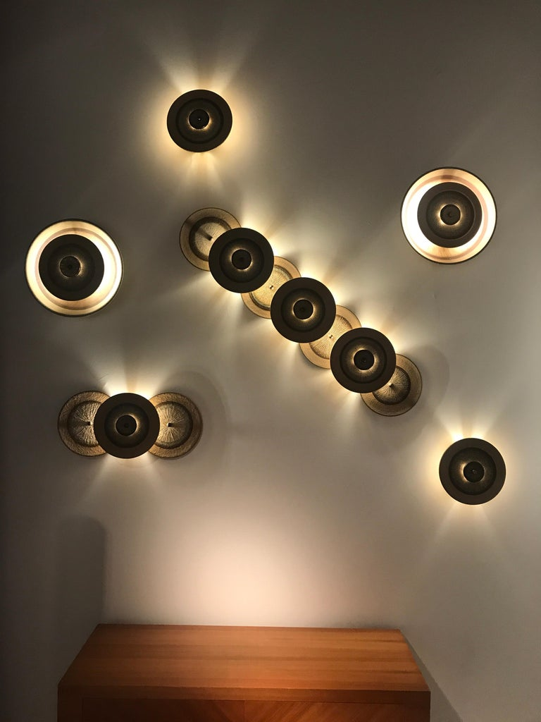 Set of 1970s Ceramic Soholm Wall Lights For Sale 5