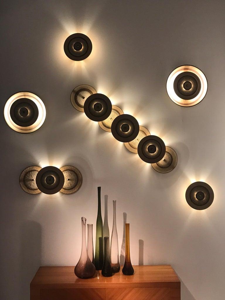 Set of 1970s Ceramic Soholm Wall Lights For Sale 6