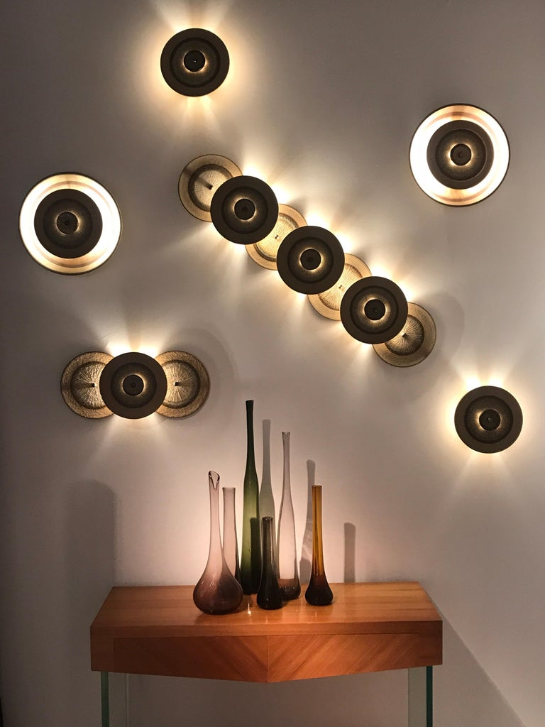 Set of 1970s Ceramic Soholm Wall Lights For Sale 7