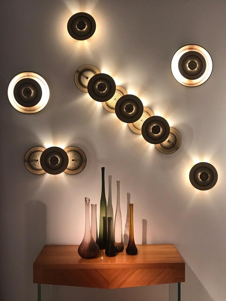Set of 1970s Ceramic Soholm Wall Lights For Sale 8
