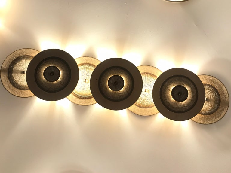 Mid-Century Modern Set of 1970s Ceramic Soholm Wall Lights For Sale