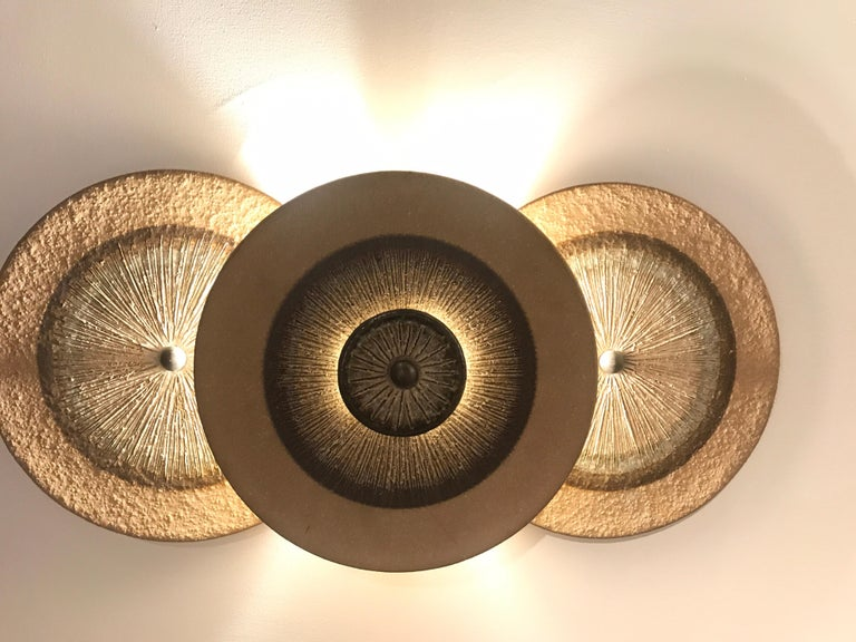 Late 20th Century Set of 1970s Ceramic Soholm Wall Lights For Sale
