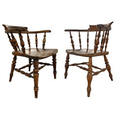 Set of 19th Century English Pub Chairs
