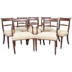 Set of 19th Century Mahogany Rope Back Dining Chairs