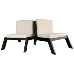 Set of 2 Cubist 1970s Lounge Chairs