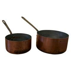 Set of 2 19th Century Copper Pots