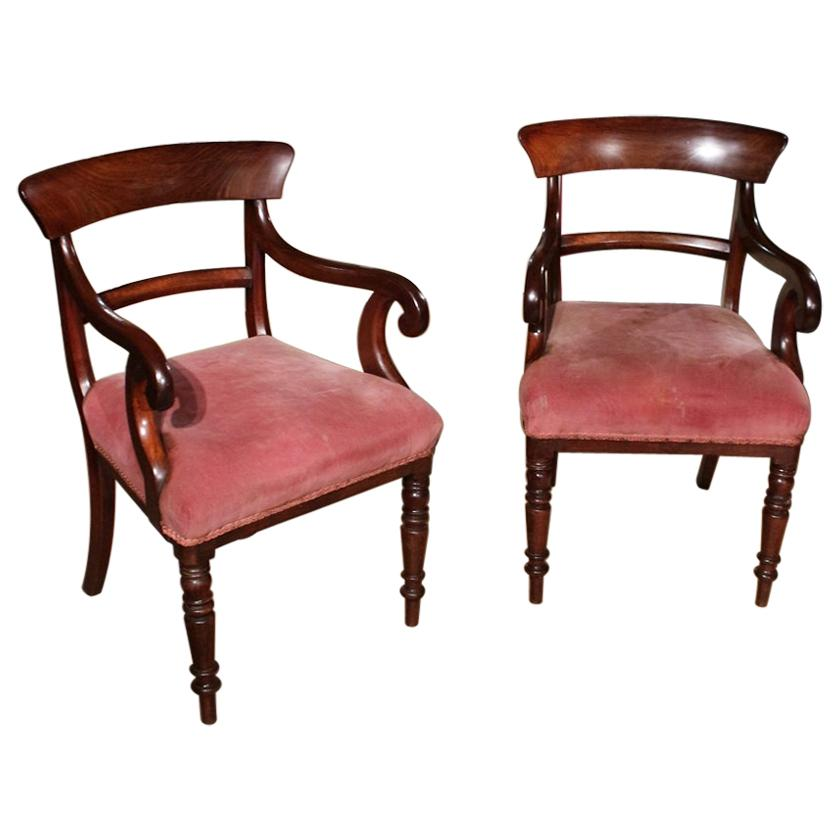 Set of 2 19th Century Mahogany Chairs