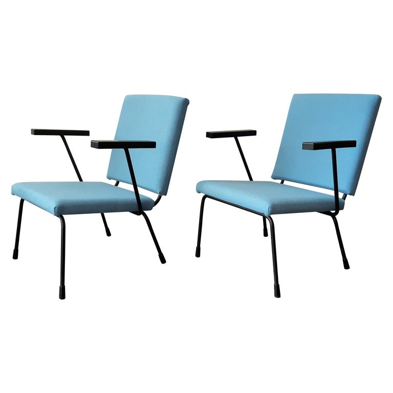 Set of 2 '415' Lounge Chairs by Wim Rietveld for Gispen, The Netherlands 1950's For Sale