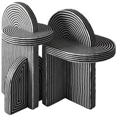 Set of 2 After Ago Side Table by Richard Yasmine