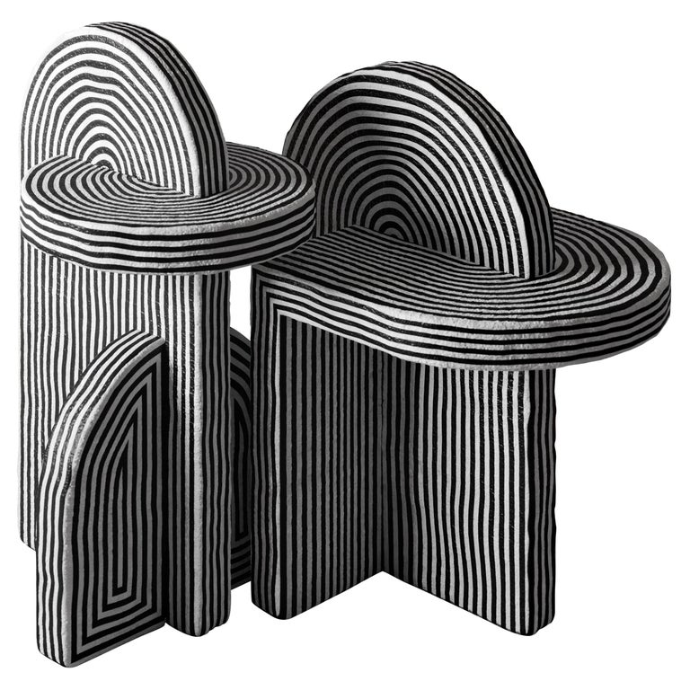 Richard Yasmine Set of 2 After Ago Side Tables, 2020, offered by Galerie Philia Furniture