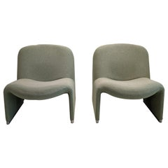 Set of 2 Alky Armchairs by Giancarlo Piretti for Artifort
