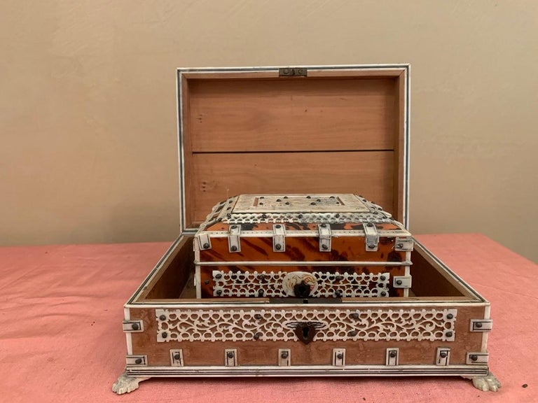 Set of 2 Anglo Indian Boxes In Good Condition For Sale In Vosselaar, BE