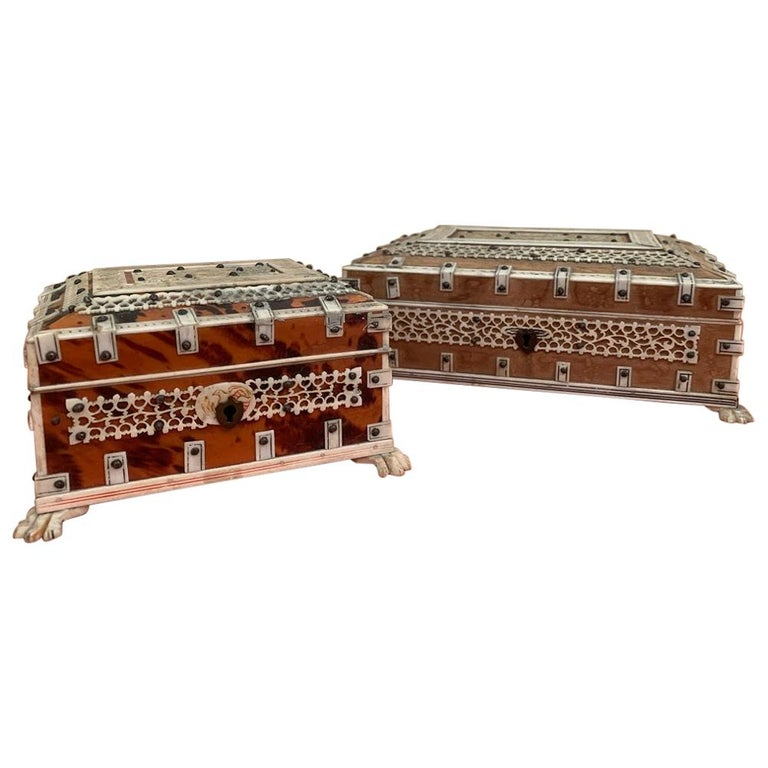 Set of 2 Anglo Indian Boxes For Sale