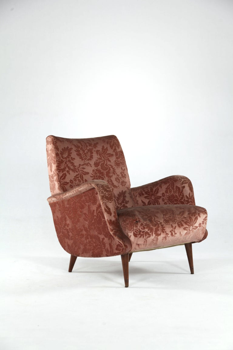 Set of two armchairs and one curved Sofa from