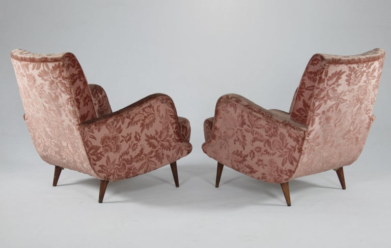 Mid-20th Century Set of 2 Armchairs and 1 Sofa from