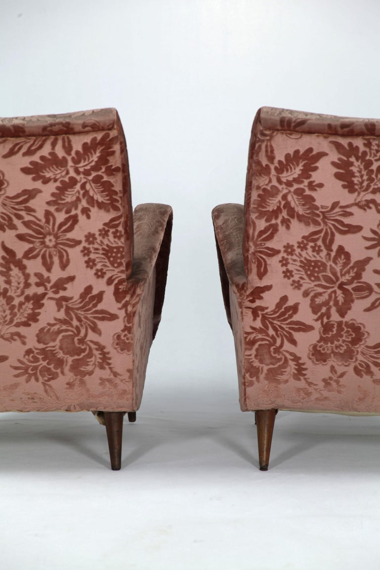 Fabric Set of 2 Armchairs and 1 Sofa from