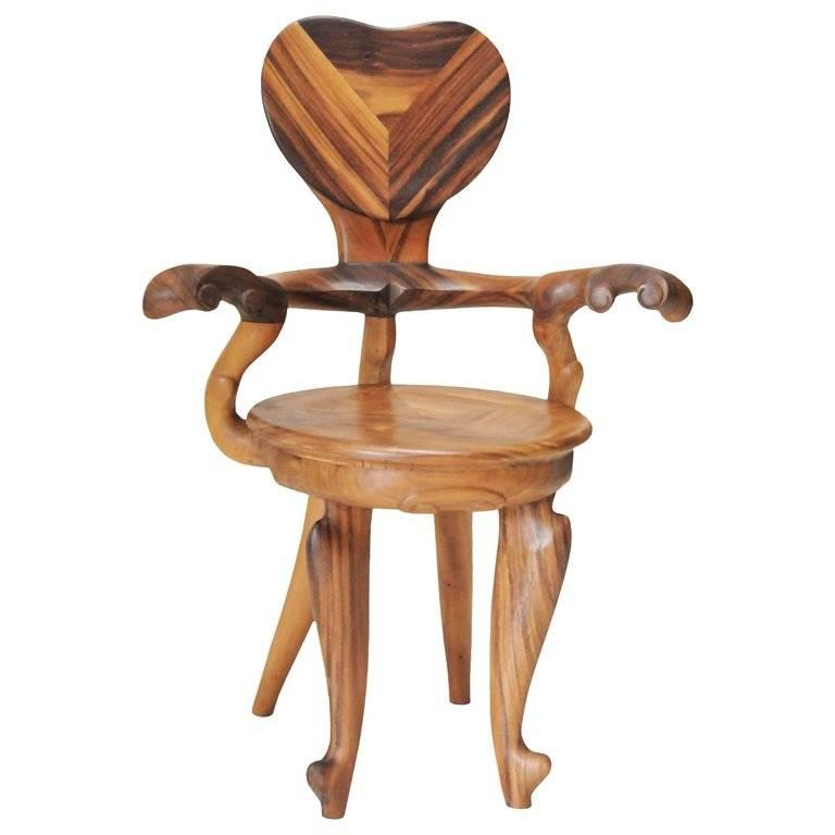 Balinese Set of 2 Armchairs Casa Calvet Design by Antoni Gaudi, Suar Wood, Saturday Sale For Sale