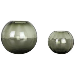 Set of 2 Ball Vases Turmaline by Wilhelm Wagenfeld for WMF Germany, 1960s No 1