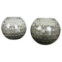Set of 2 Ball Vases Turmaline Wilhelm Wagenfeld for WMF Attrib. Germany, 1960s