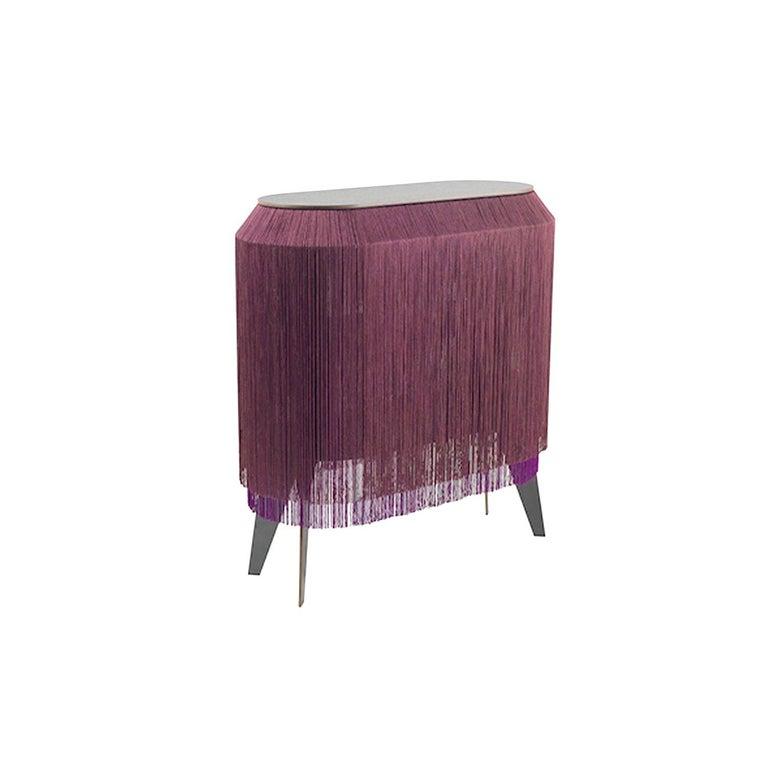 Set of 2 Bordeaux Fringe Side Tables / Nightstand, Made in France For Sale 1