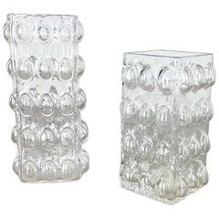 Set of 2 Bubble Vases by Wilhelm Braun-Feldweg for Hirschberg, Germany, 1960s