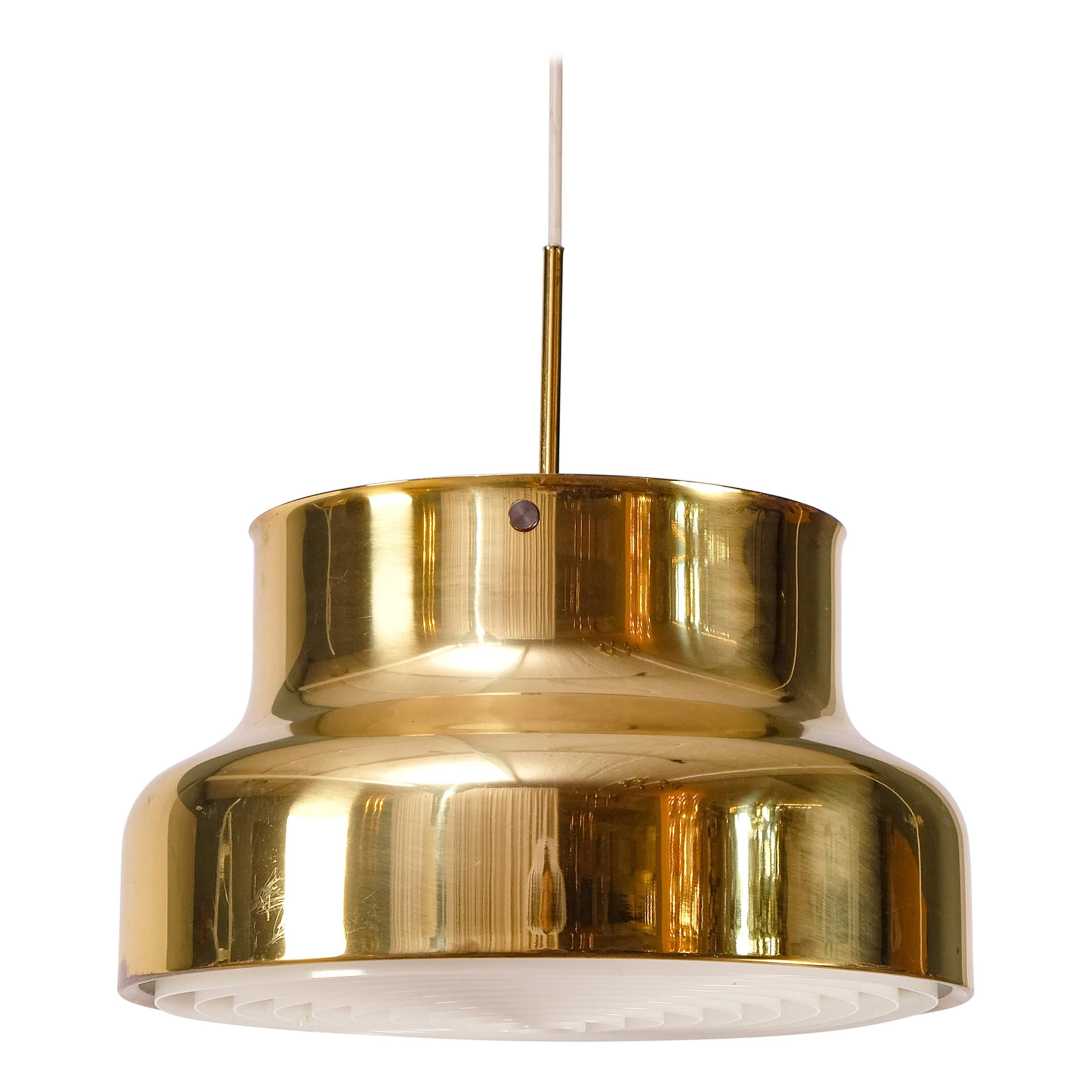 Set of 2 Bumling Ceiling Pendants in Brass, Sweden, 1960s