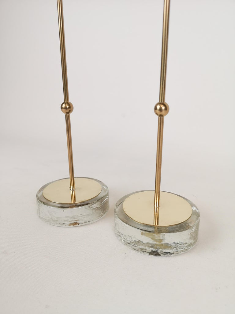 Mid-Century Modern Set of 2 Candleholders Ystad Metall, Sweden, 1950s For Sale