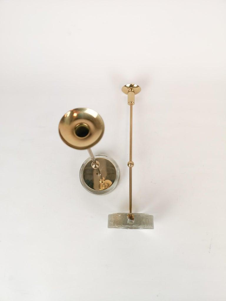 Set of 2 Candleholders Ystad Metall, Sweden, 1950s For Sale 1