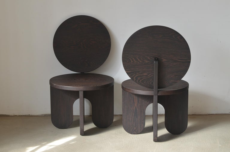 Modern Set of 2 Capsule Lounge Chairs by Owl For Sale