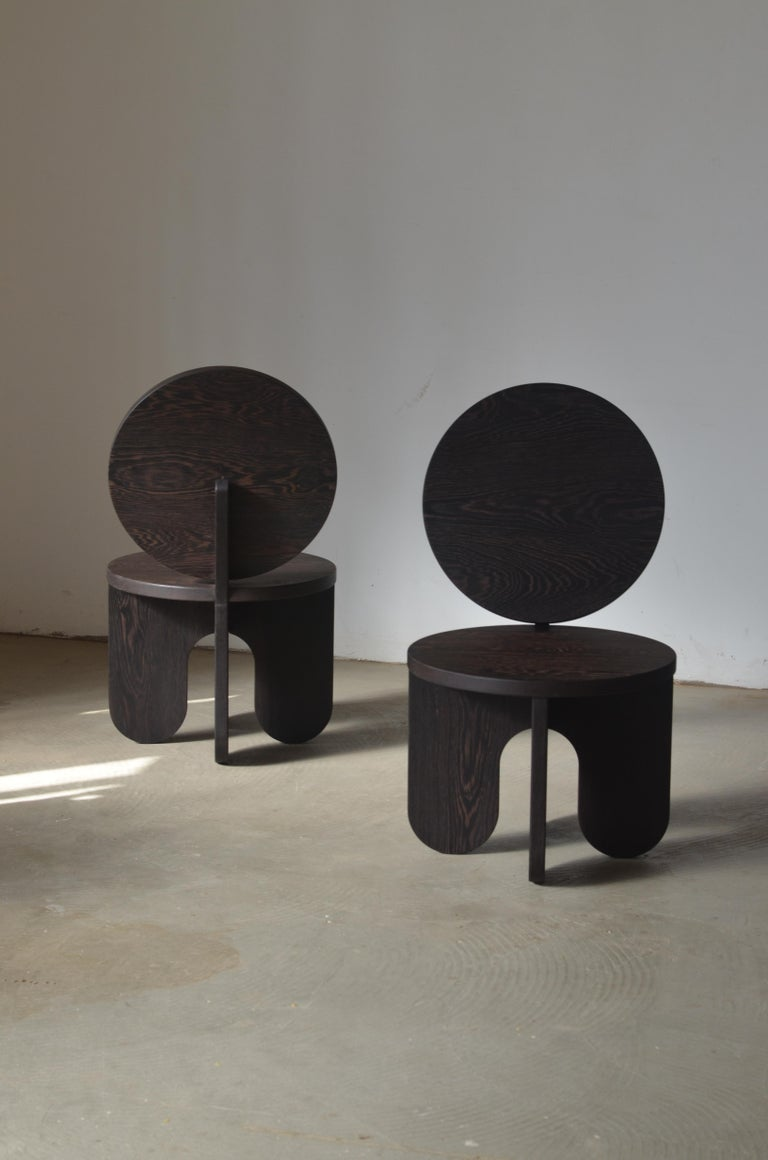 Spanish Set of 2 Capsule Lounge Chairs by Owl For Sale