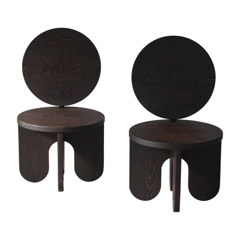 Set of 2 Capsule Lounge Chairs by Owl For Sale