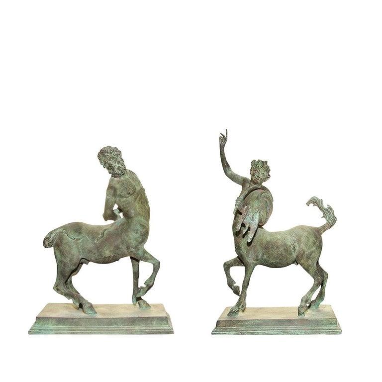 Italian Set of 2 Centaurs Statuettes For Sale