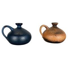 Set of 2 Ceramic Studio Pottery Vase by Gerhard Liebenthron, Germany, 1980s