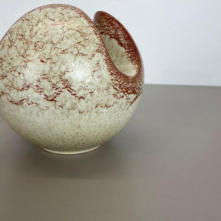 Set of 2 Ceramic Studio Pottery Vases by Bertoncello Ceramics, Italy 1970s For Sale 5