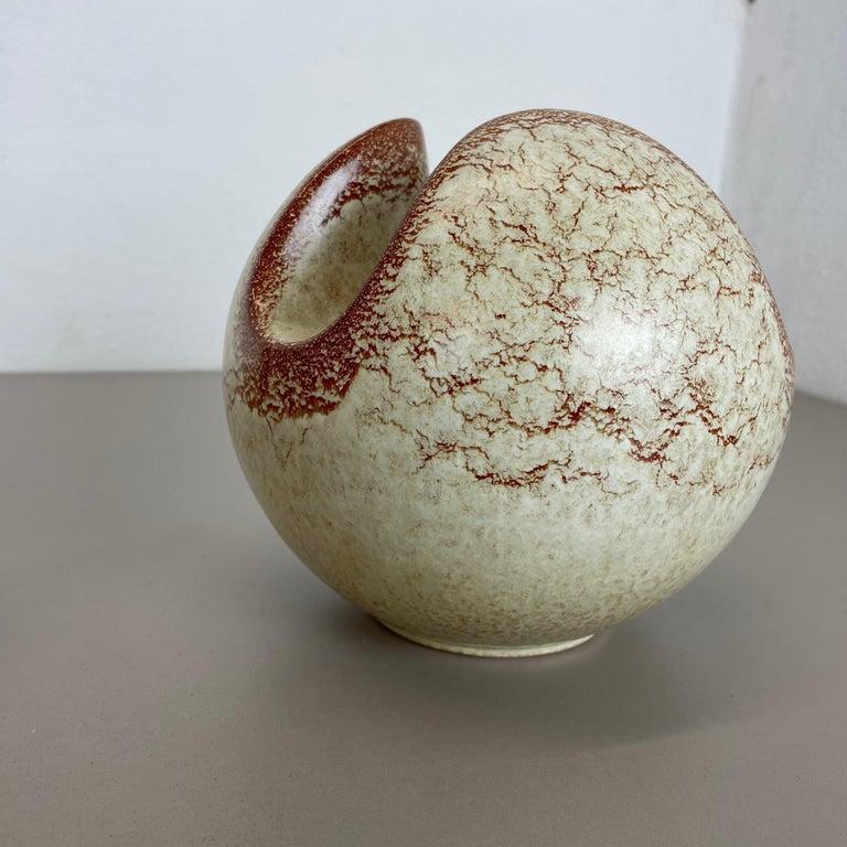 Set of 2 Ceramic Studio Pottery Vases by Bertoncello Ceramics, Italy 1970s For Sale 6