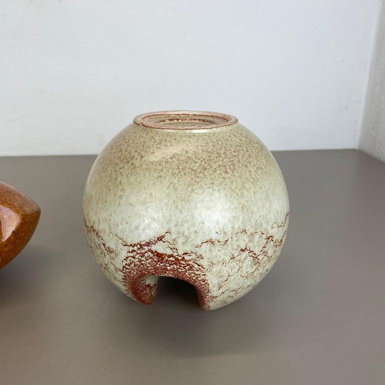 Set of 2 Ceramic Studio Pottery Vases by Bertoncello Ceramics, Italy 1970s For Sale 11
