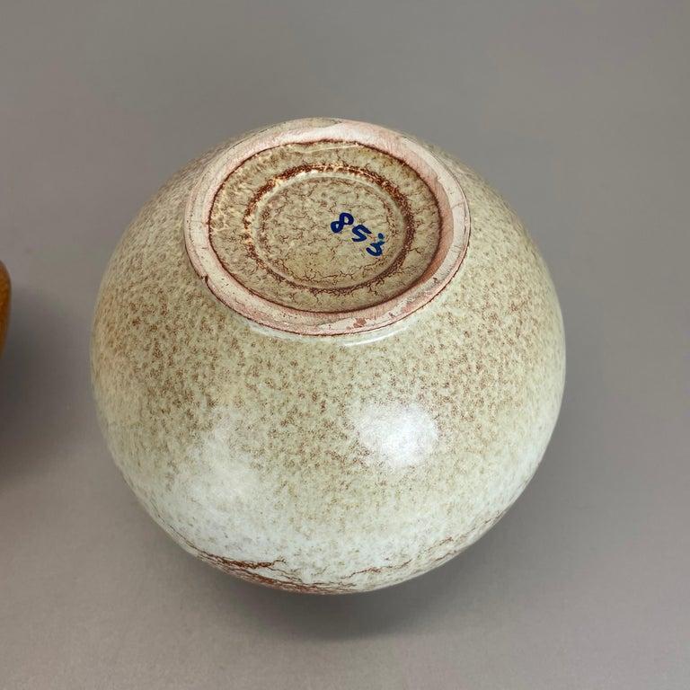 Set of 2 Ceramic Studio Pottery Vases by Bertoncello Ceramics, Italy 1970s For Sale 12